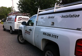 Sheridan Heating and Cool Service Vehicles.